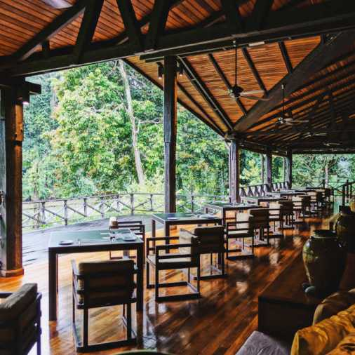 exploring borneo island borneo rainforest lodge dining hall