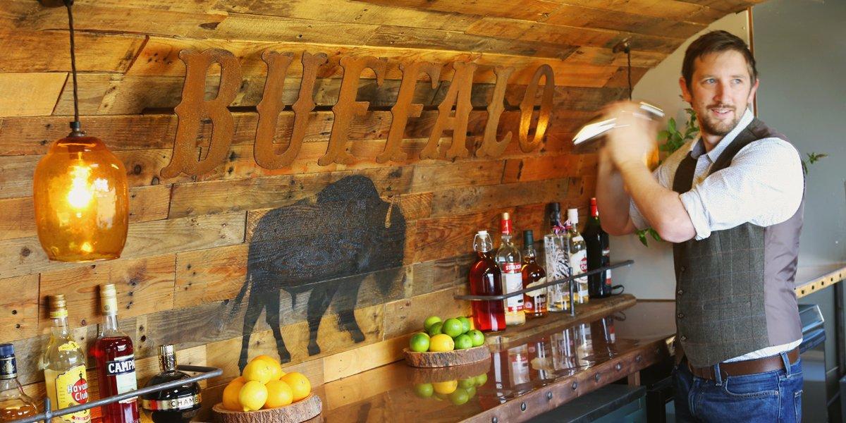 Vintage Airstream Festival Bar