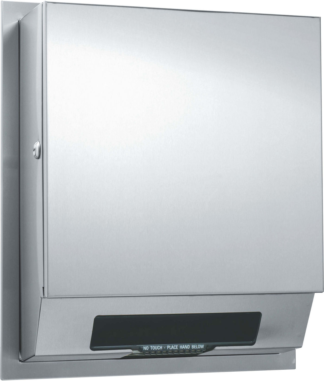 automatic paper towel dispenser for kitchen trough sink asi 68523ac 4 roll ac semi