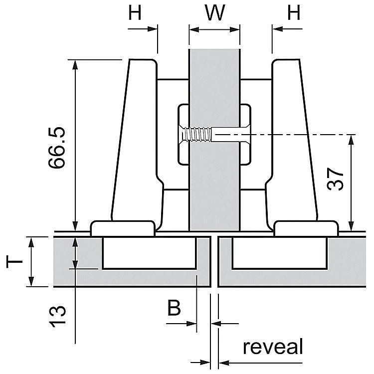 Blum 73B3580 110+Deg Straight Press-In Standard