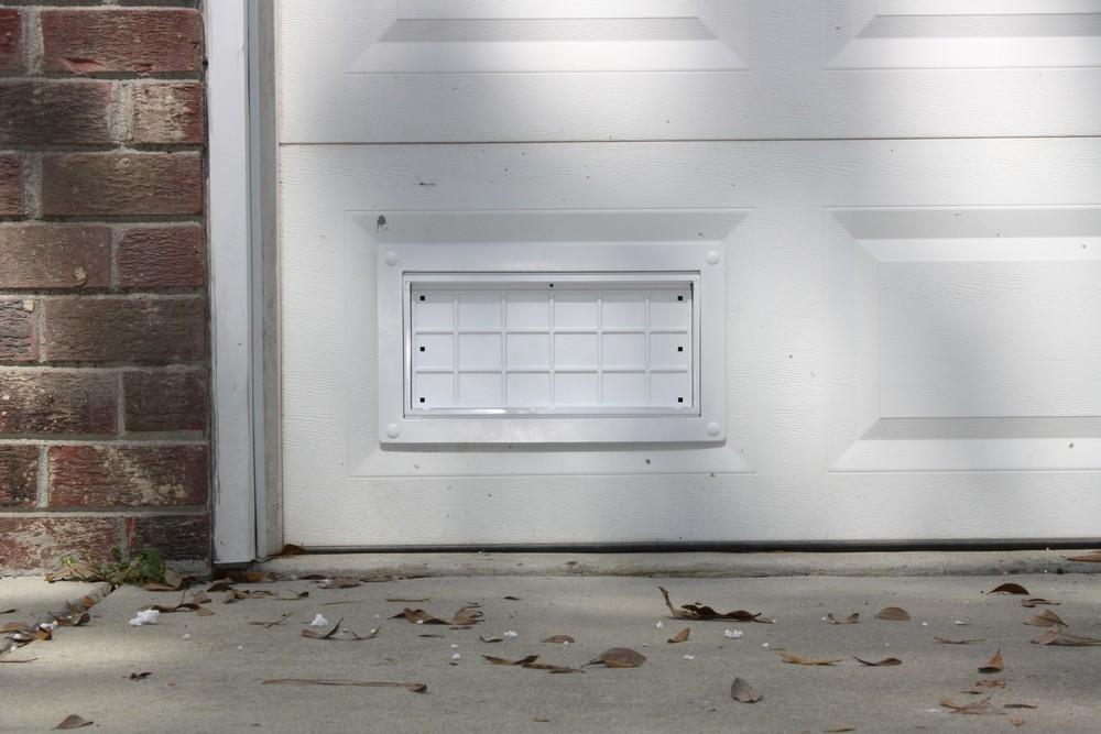Flood Flaps FFNF05GDW Garage Door Flood Vent White  TheBuildersSupplycom