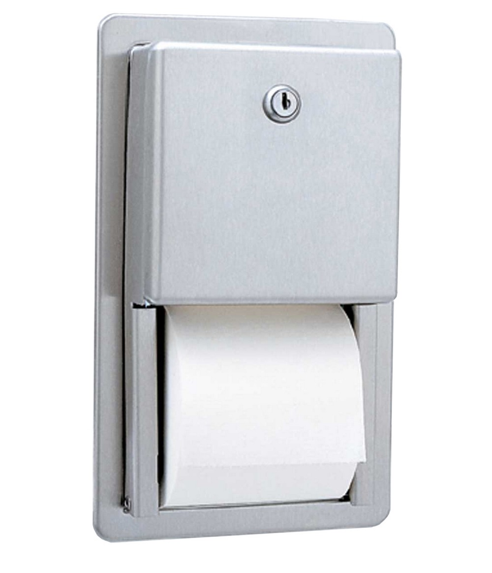 roll up cabinet doors kitchen average cost to remodel a gamco ttd-6 multi-roll toilet tissue dispenser recessed ...