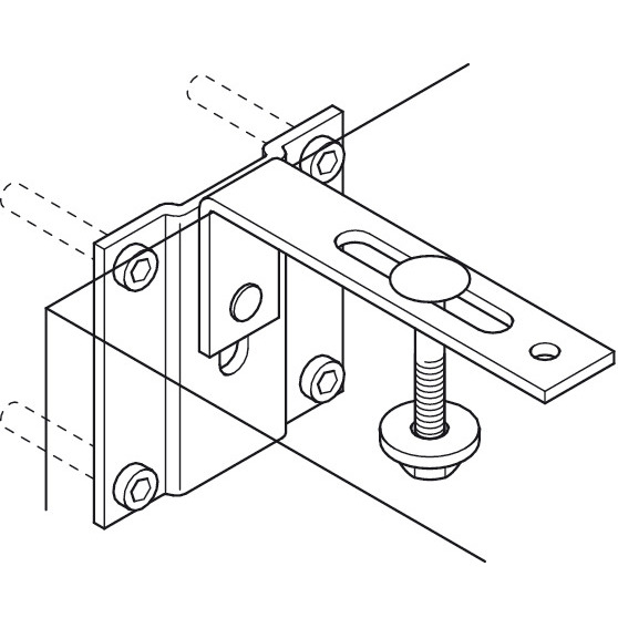 Hafele 271.98.100 Safety Bracket, for Häfele Wall Bed