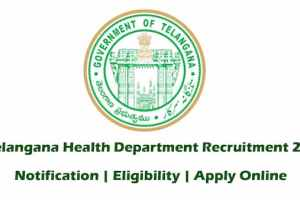 Telangana Health Department Recruitment