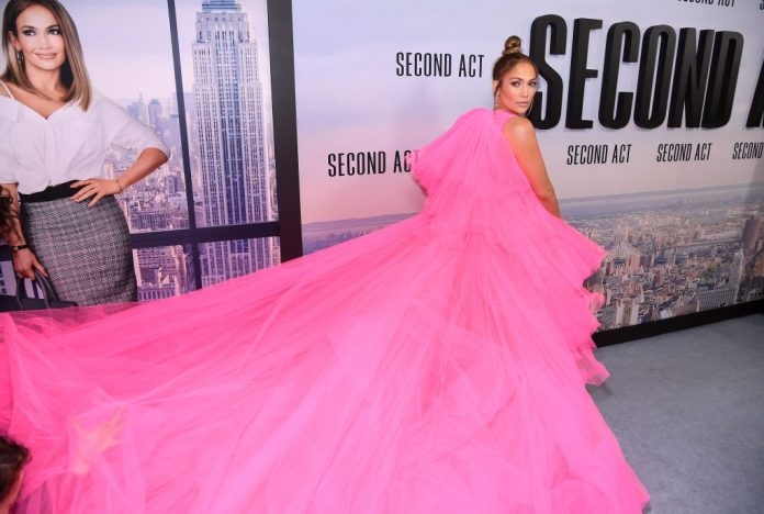 Jennifer Lopez at the world premiere of 'Second Act' on Dec. 12, 2018, in New York City