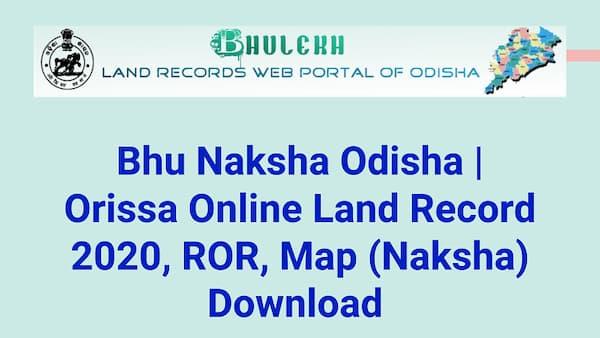 Bhu Naksha Odisha 2020