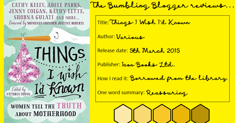 Review: Things I Wish I'd Known edited by Victoria Young