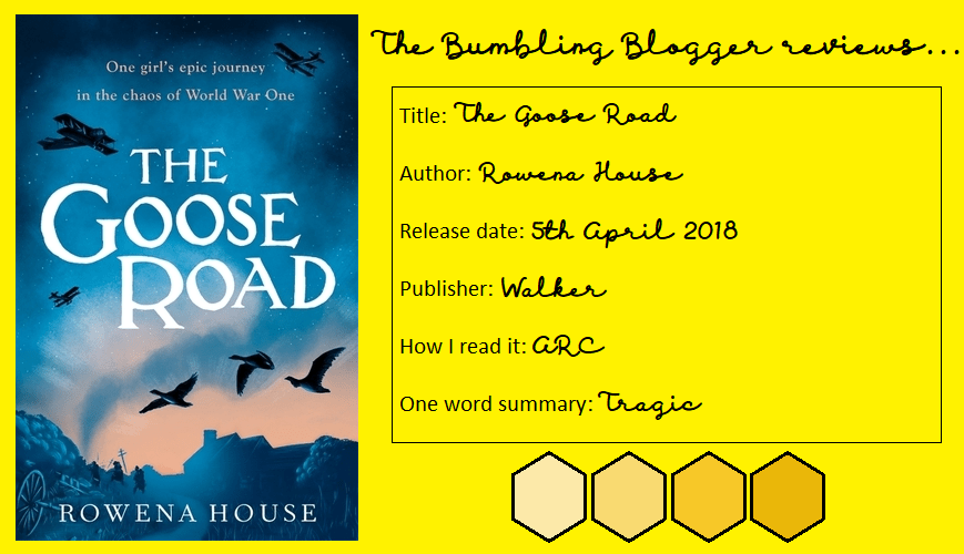 The Goose Road by Rowena House review header