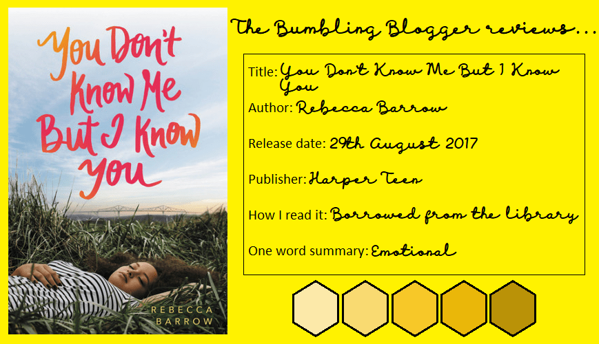 Review: You Don't Know Me But I Know You by Rebecca Barrow