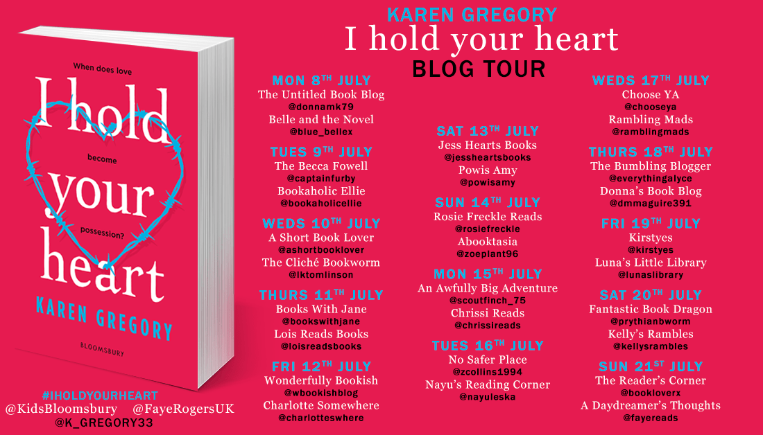 Blog tour: I Hold Your Heart by Karen Gregory