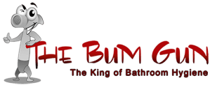 the bum gun bidet sprayer logo