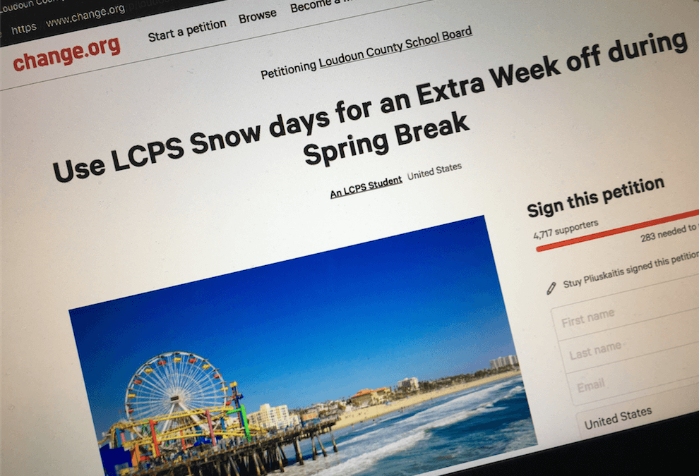 Despite Petition School Calendar Not Going To Change
