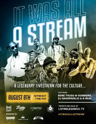 Snoop Dogg, Bone Thugs-N-Harmony & B-Real Unite For 'It Was All A Stream'