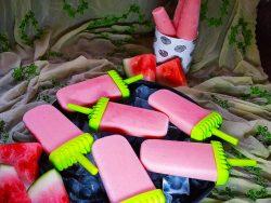watermelon yogurt popsicles