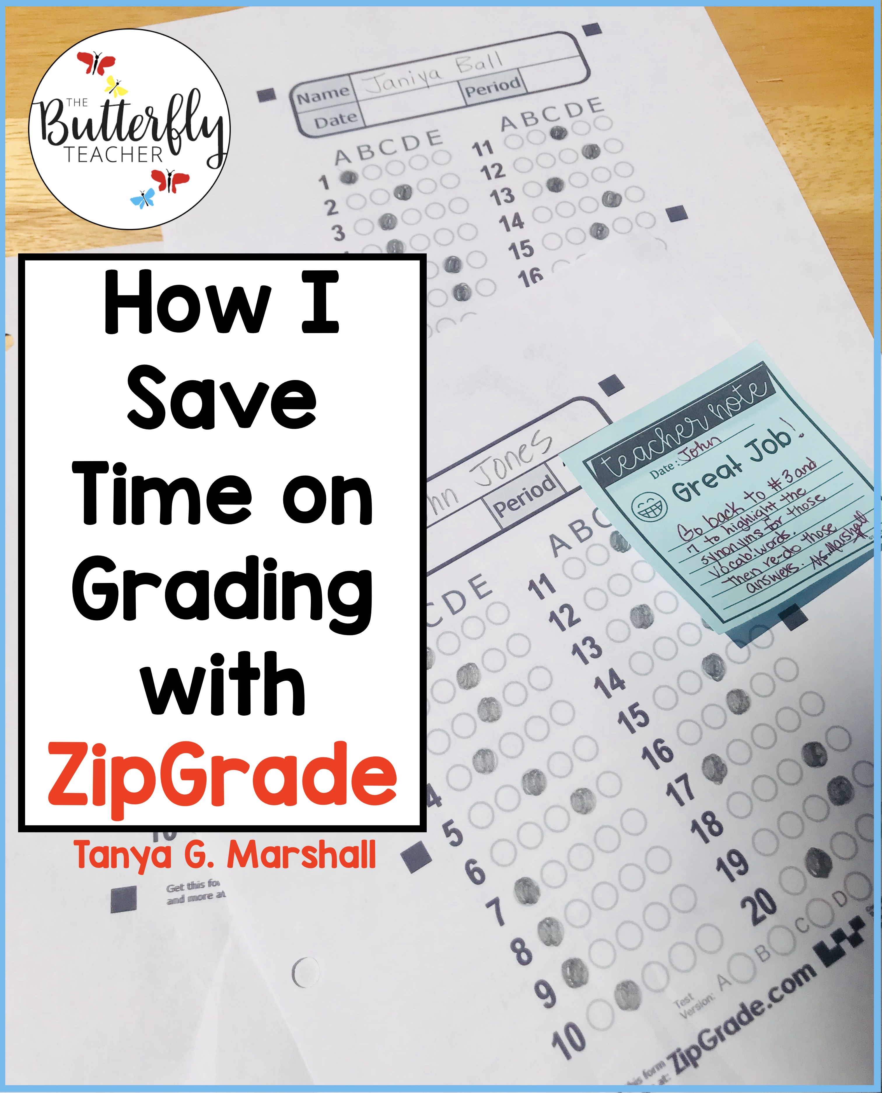 How I Save Time Grading Student Work with ZipGrade | The
