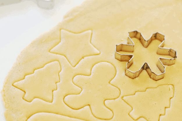 The Best Cut-Out Sugar Cookie Recipe | homemade sugar cookies, sugar cookie recipes, holiday cookie recipe, how to make holiday cookies, homemade Christmas cookies || The Butter Half via @thebutterhalf #christmascookies #sugarcookies #christmastreats