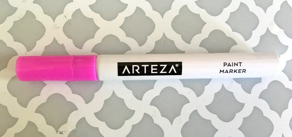 arteza paint marker honest review - close up