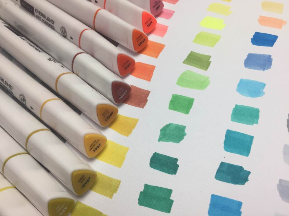 arteza everblend marker review swatch test
