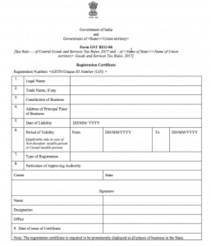 the image helps explain gst registration certificate and how it can be obtained by gst registration online
