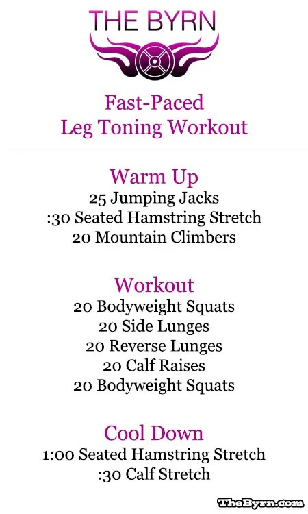 Leg Toning Exercise for Women