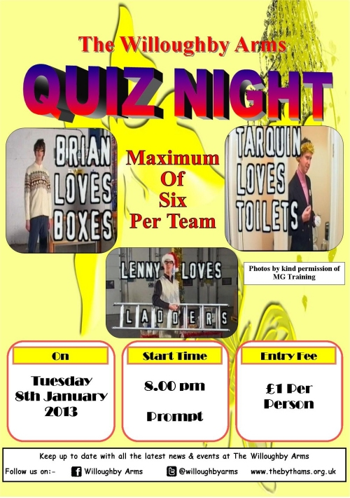 Willoughby Quiz (08/01/2013) poster