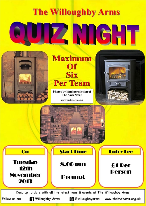 Pub quiz poster (12-11-13)