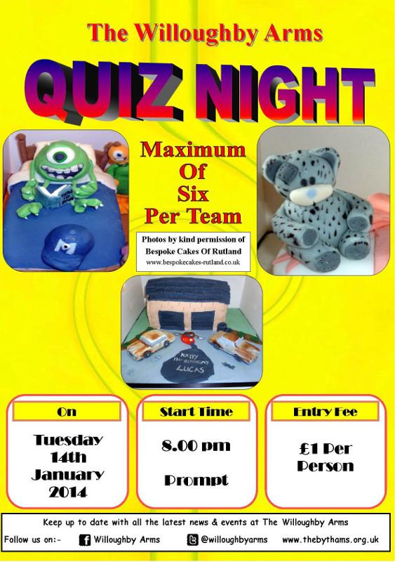 Pub quiz poster (14-01-2014)