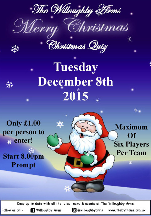 Christmas Quiz Poster 2015