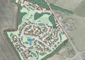 Layout of Castle Bytham quarry development