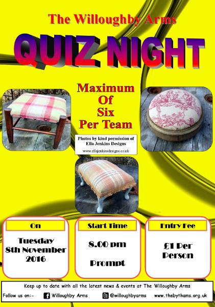 Pub quiz poster (08-11-2016)