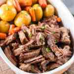 Dutch Oven Pot Roast With Potatoes And Carrots Pull Apart Tender