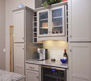 Project Feature Greige Painted Cabinets  Apple Valley