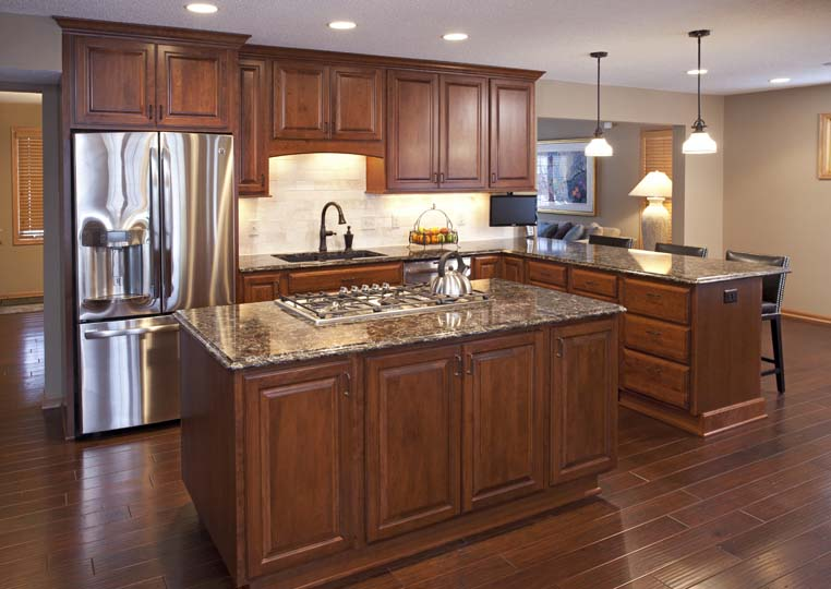 Project Feature Apple Valley Kitchen Remodel Cherry Wood Cabinetry   Apple Valley Kitchen ...