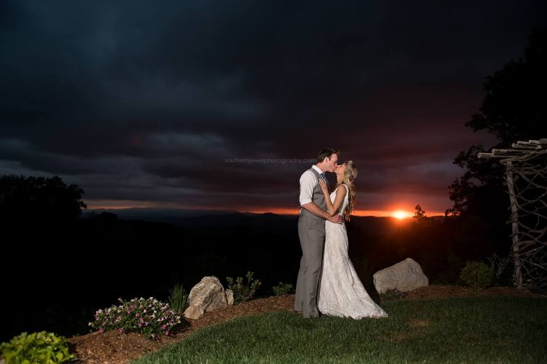 Wedding Day Magical Sunset
