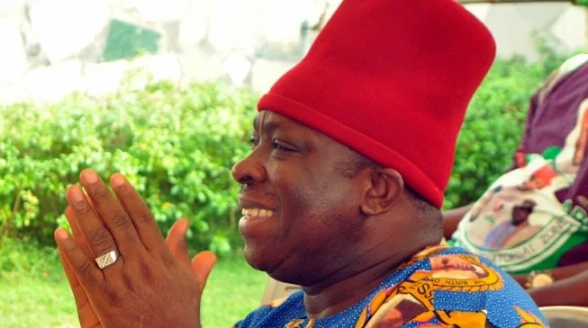 Image result for INEC declares Victor Umeh winner of Anambra Central Senatorial rerun