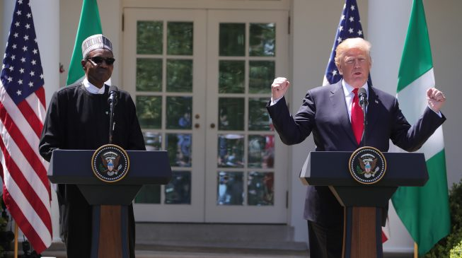 Image result for Buhari has done a great job on security - Donald Trump