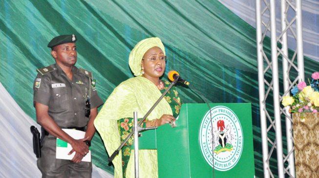 Image result for Aisha buhari speaking