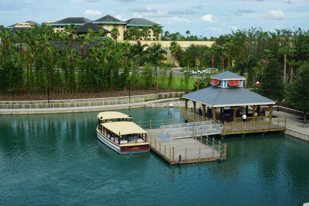 Water taxi locations are conveniently located at several of the resorts.