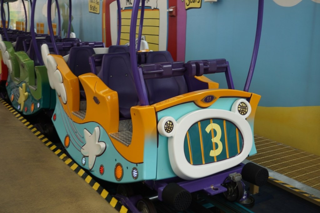 The train ride in Seuss Landing was fun for the whole family!