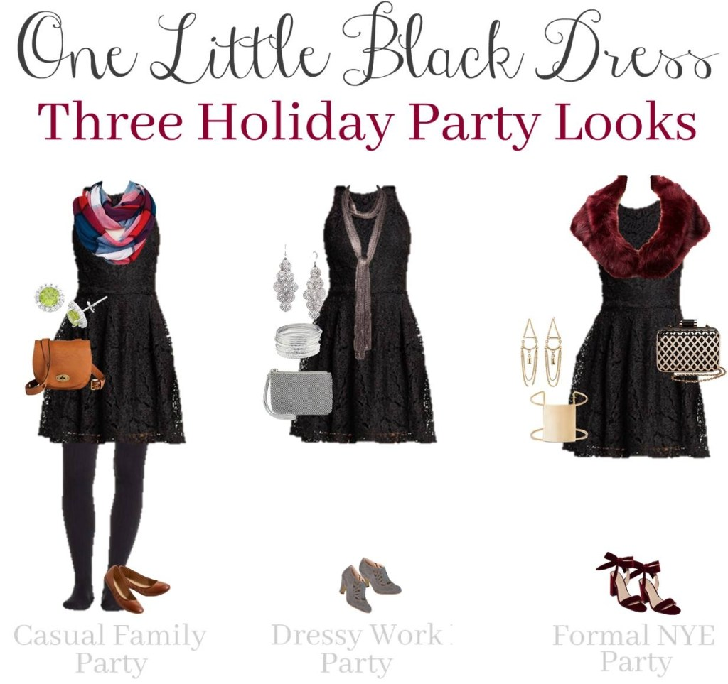 One Little Black Dress:  Three Holiday Party Looks