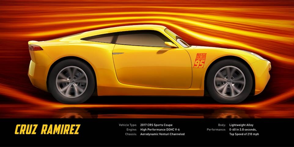 Cruz Ramirez is one of the new characters in Cars 3!
