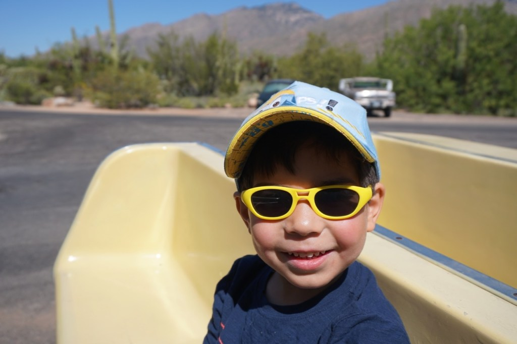 My son loves the tram at Sabino Canyon!