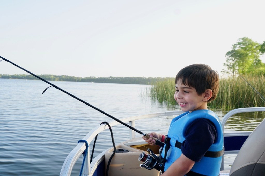 Fishing at Walt Disney World with preschoolers is a wonderful experience. The look on my son's face says it all!