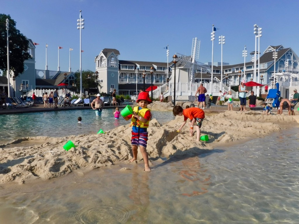 Kid friendly pool areas are also one of the reasons to stay on property at Disney World. My preschool aged son loves Stormalong Bay at Disney's Beach Club Resort.