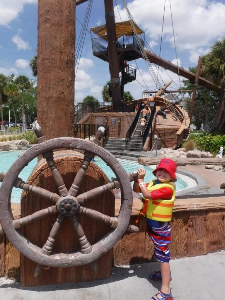 Preschool aged children will enjoy the replica pirate ship at Disney's Beach Club Resort.