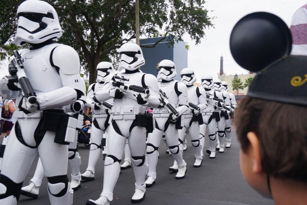 My son enjoys watching the March of the First Order at Disney's Hollywood Studios.