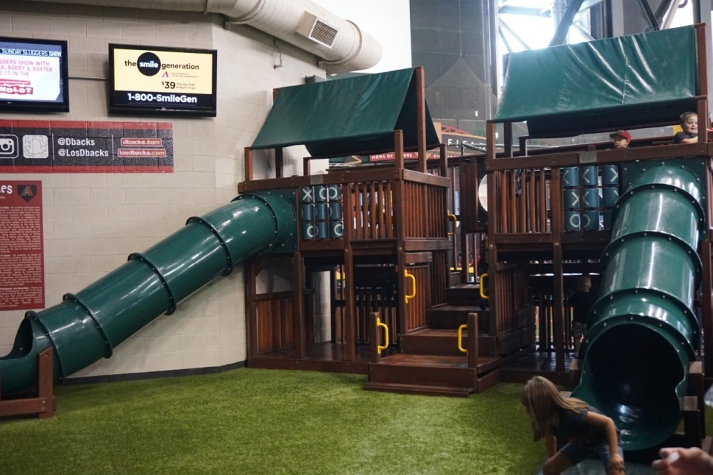 My son loved this particular play area and could have stayed here for the entire game if we let him.