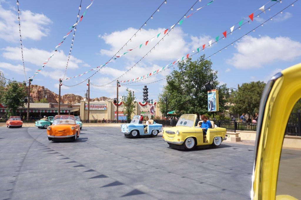 One of the newer rides in Cars Land is Luigi's Rollickin' Roadsters. It's a family favorite!