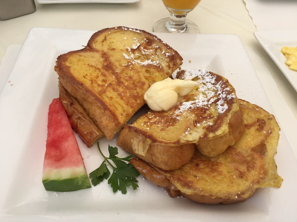 I love french toast, so I was happy to see that french toast is an option on the menu.