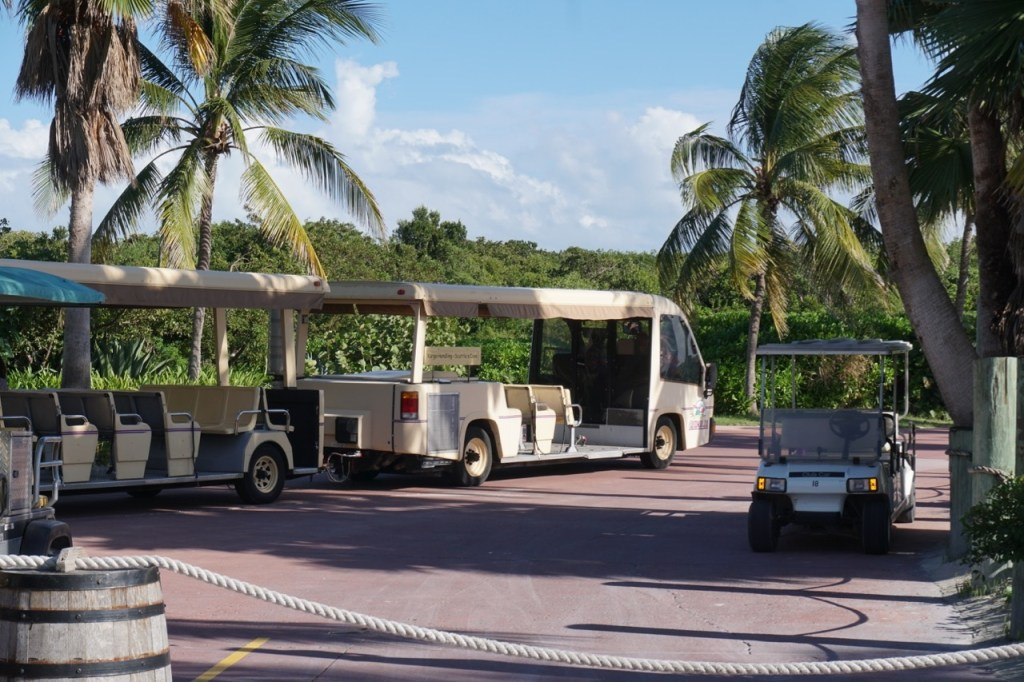 Families will appreciate that there is a tram on Disney's private island, Castaway Cay.